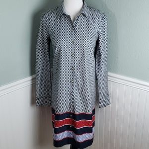 Tommy Hilfiger Printed Button Down Shift Dress